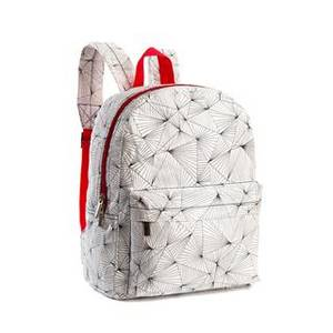 Wholesale backpack: Middle Size Geometric Pattern Tyvek Paper Backpack