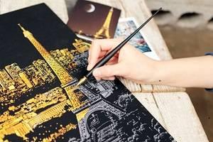 Wholesale Arts & Crafts Stocks: Lago Design Scratch Night View /Scratch Art/Scratch Card/Scratch Board/Post Card/Souvenir