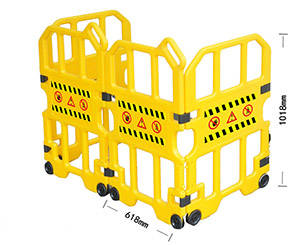 Wholesale traffic barriers: Yellow Fence Safety Barrier Traffic & Warning