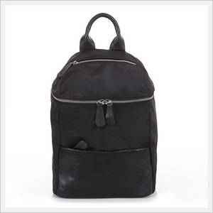 Wholesale leather backpack: Simple Cow Leather Pocket Backpack