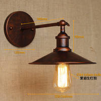 The Umbrella-type Shape Wall Lamps with LED Lights Iron Art 4