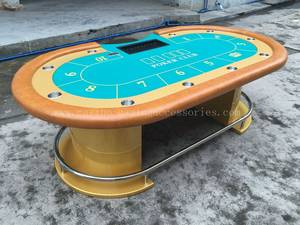 Wholesale walnut buyers: Casino Poker Table with Pedestal 96 * 47inch