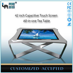 Wholesale touch screen table kiosk: LASVD 42 Inch Capacitive Interactive Touch Table Kiosk