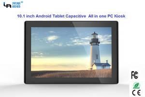 Wholesale android tablet: LASVD 10.1 Inch Android Tablet Capacitive Touch Screen All in One PC Kiosk