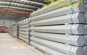 Wholesale building coating: Galvanized Pipes Coated Steel Pipes Round Square Gas Oil Building 21.3-610