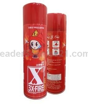 Fire Extinguisher, Aerosol Spray Type with Environmentally Firendly Materials
