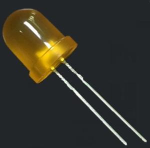 Wholesale led lens: 8mm Ultra Brightness Orange Light Orange Round with Diffused Lens LED