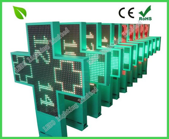 P10 Two Color Outdoor LED Pharmacy Cross Sign Board Display
