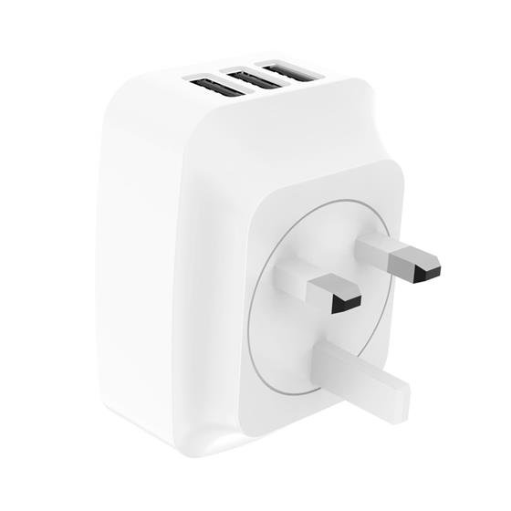 OEM Manufacturer 17W 3.4Amp Mobile Phone 3 Port USB Wall Charger