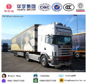 Wholesale axle box: Euro Style 3 Axle Box Semi Trailer Express/Logistics/Bulk Cargo Transport Van Vehicle