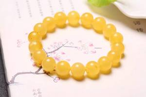 Wholesale beeswax: NEFFLY Natural Orange 925 Sterling Silver 10mm Indian Asian Style Beaded Strands Bracelets Beeswax G