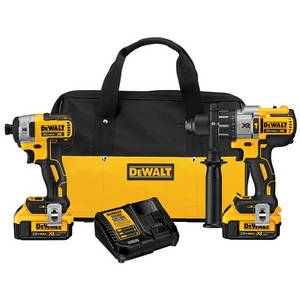 Wholesale Electric Drills: DEWALT 2-Tool 20-Volt Max Lithium Ion (Li-ion) Brushless Motor Cordless Combo Kit with Soft Case