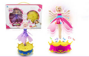 Wholesale magical toys: 2014 New Toys for Girls! Magic Flying Barbie Doll with Light,Sensing Flying Fairy