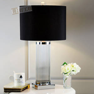 Wholesale crystal lamp: Crystal Glass Rod Table Lamp New Classical Style