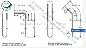Wholesale Refrigeration & Heat Exchange Parts: L Bent MOSI2 Heating Elements