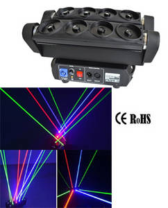 Wholesale moving head lighting: 8 Eyes Spider Beam Laser Moving Head Light
