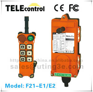Wholesale industrial remote controller: AC 220v F21-E1 6 Buttons 1 Speed Industrial Radio Remote Control for Tow Truck/Double-girder Overhea