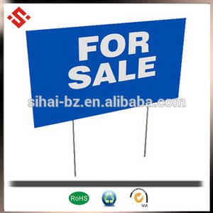 Wholesale corrugated plastic board: Plastic Boards 4x8 Colorful Custom PP Corrugated Plastic Lawn Signs with Stakes