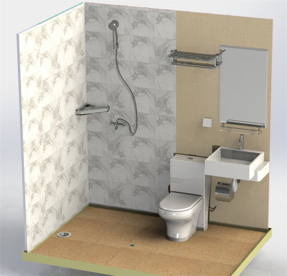 Prefabricated Bathroom Unit With Toilet All One In Shower Rooms