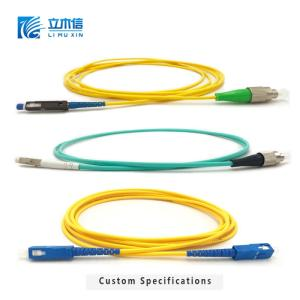 Wholesale connector: Optical Fiber Patch Cord with FC/SC/LC/ST APC/UPC Connector and Jumper 2m Cable for FTTH Network