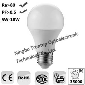 Wholesale 6w led bulb: LED Bulbs A60 5W,6W,7W,8W,9W,10W,12W,15W,18W Plastic with Aluminum Body