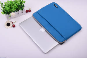 Wholesale laptop bag: Wholesale Classic Soft Fur Neoprene Laptop Sleeve Bag with Pocket