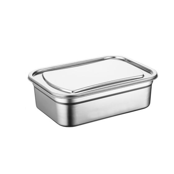 Rectangular Airtight Lunch Box Stainless Steel Container Set Food Container with Lid