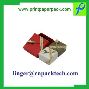 Wholesale mustang: Customized Small Lid & Base Trinket Gift Box for Earring & Necklace Jewelry
