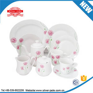 Wholesale dinnerware: Luxury Embossed White Porcelain Hotel Table Dinnerware Corelle