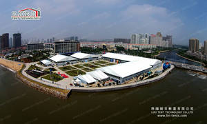 Wholesale Trade Show Tent: 40m Two Floor Arcum Tent for International Expo
