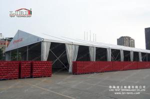 Wholesale wall tile making machine: 30x150m Huge Outdoor Exhibition Tents with White PVC Waterproof Roof and Glass Walling
