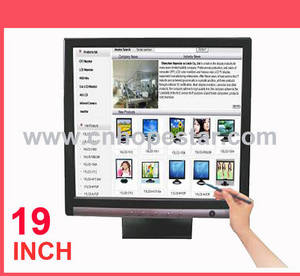 Wholesale 19 inch lcd monitor: Resistive 19 Inch LCD Touch Monitor