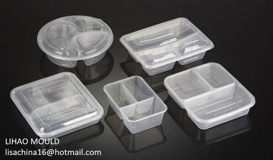 Thin Wall Plastic Injection Multi Compartment Bento Box Mould