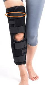 Wholesale knee support brace: Tri-panel Aluminum Brace Support Knee Immobilizer