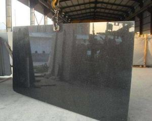 Wholesale marble wall slab: Black Galaxy Granite Banseokstone