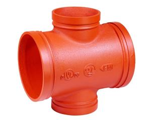 Wholesale grooved fitting: Ductile Iron Pipe Fitting Pipe Cross Equal Reducing Grooved Threaded Galvanized