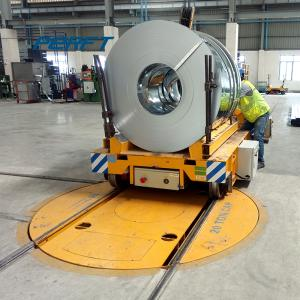 Wholesale cart turntable: Battery Powered Large Diameter Electric Industry Turntable Transfer Carts Manufacturer