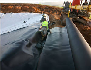 Wholesale Earthwork Products: 1.0mm  Black HDPE Geomembrane for Pond Liner