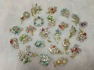 Wholesale brooch: Brooch Beautiful Elegant Bling Flower