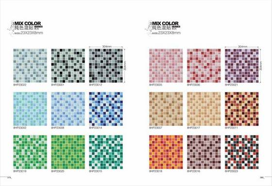 Gl Mosaic Tiles Mix Color 8mm