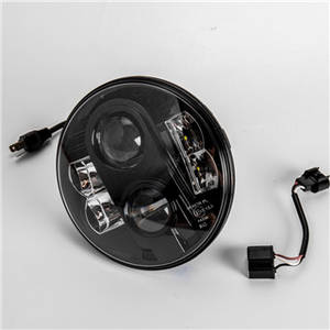 Wholesale surgical headlights: 80W 7inch Car Super Bright Projector High Power Surgical Motorcycle Round Black EMARK LED Headlight