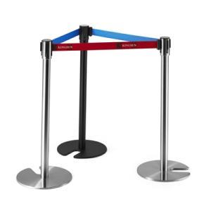 Wholesale crowd control barrier: Stackable Retractable Belt Crowd Control Barrier with Cement Base