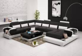 Wholesale sofa: Modern Luxury Genuine Leather Sofa