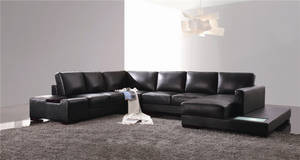 Wholesale genuine leather sofa: Modern Genuine Leather Sofa Set