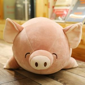 Wholesale stuffed: Stuffed Toy Doll Lying Pig Pig Girl Holding Sleep Pillow