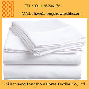 Wholesale bedding sets: 100% Polyester Bed Sheet Hotel Hospitality Guest Rooms Beddings Microfiber Sets