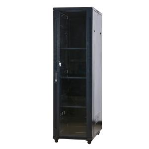 Wholesale metal cabinet: 19Server Cabinet with Front Temper Glass Door and Rear Metal Door