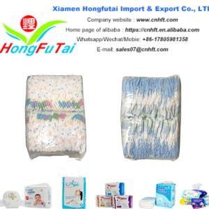Wholesale cotton baby diapers: High Quality Disposable Cotton Colored Grade B Baby Diaper in Bales