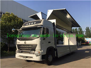 Wholesale howo: HOWO A7 6X4 Aluminium Alloy Van Truck for Sale