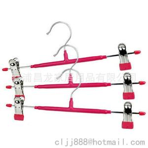 Wholesale skirts: Metal Skirt/ Pants Hanger with 2-Adjustable Clips